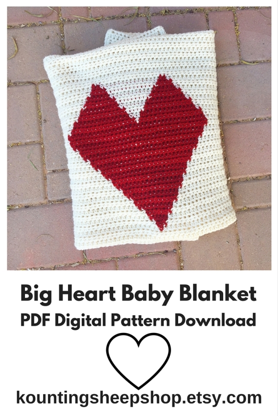Big Heart Baby Blanket Pattern