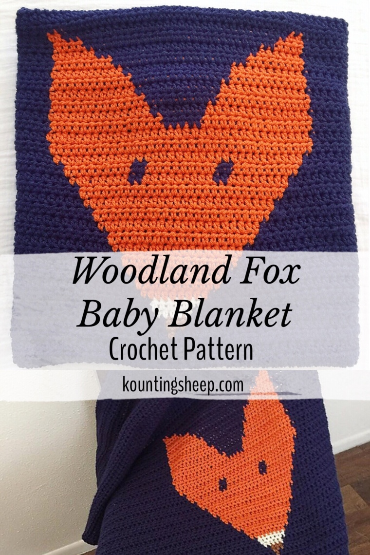 Woodland Fox Baby Blanket Pattern Kountingsheep