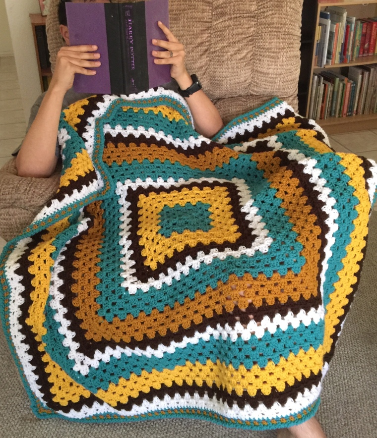 College Bound Collegiate Throw Crochet Pattern Kountingsheep