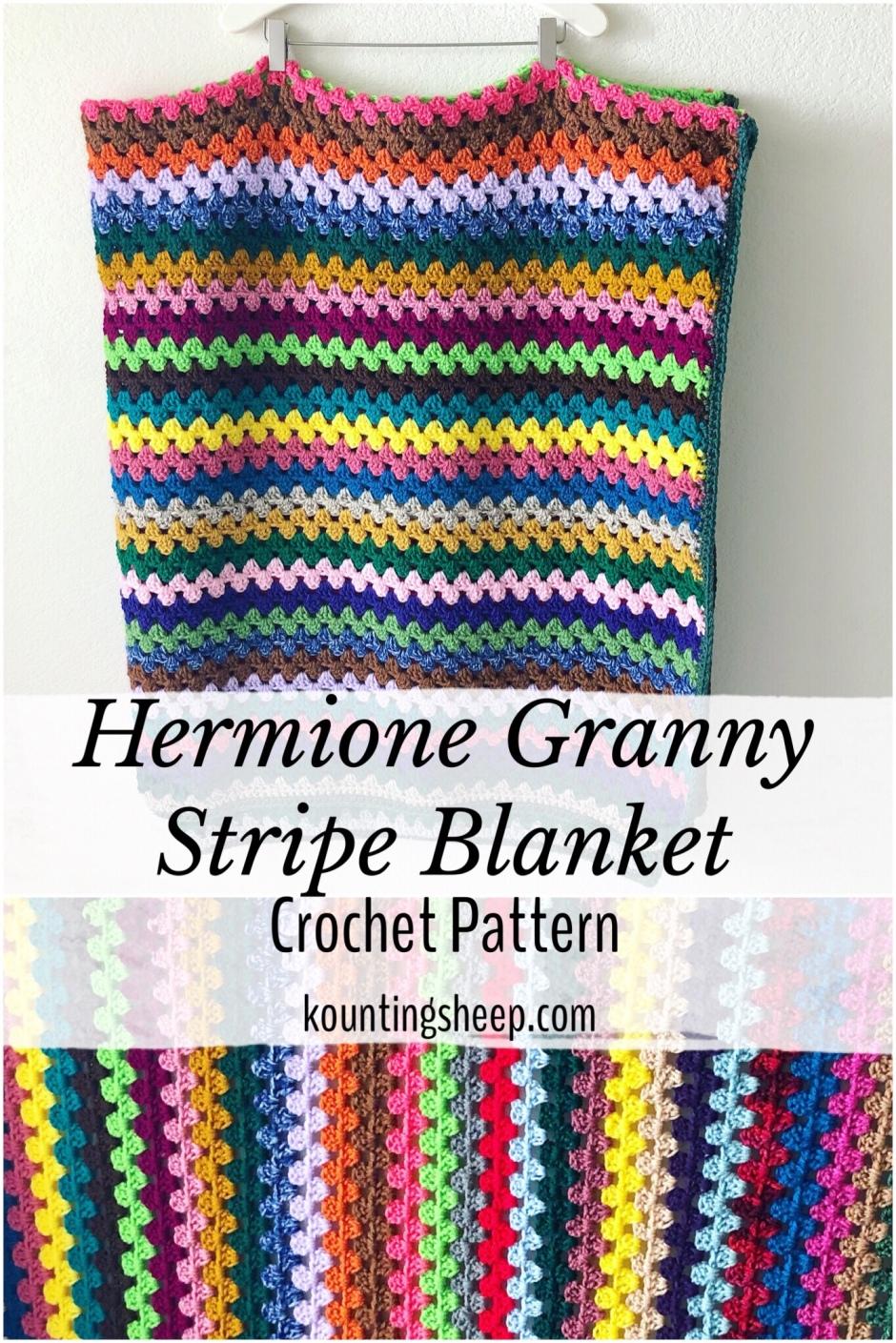 Hermione Granny Stripe Blanket Free Pattern Kountingsheep